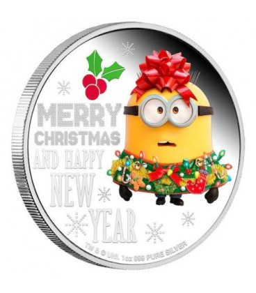 Minion Christmas 2019 1oz Silver Proof Coin