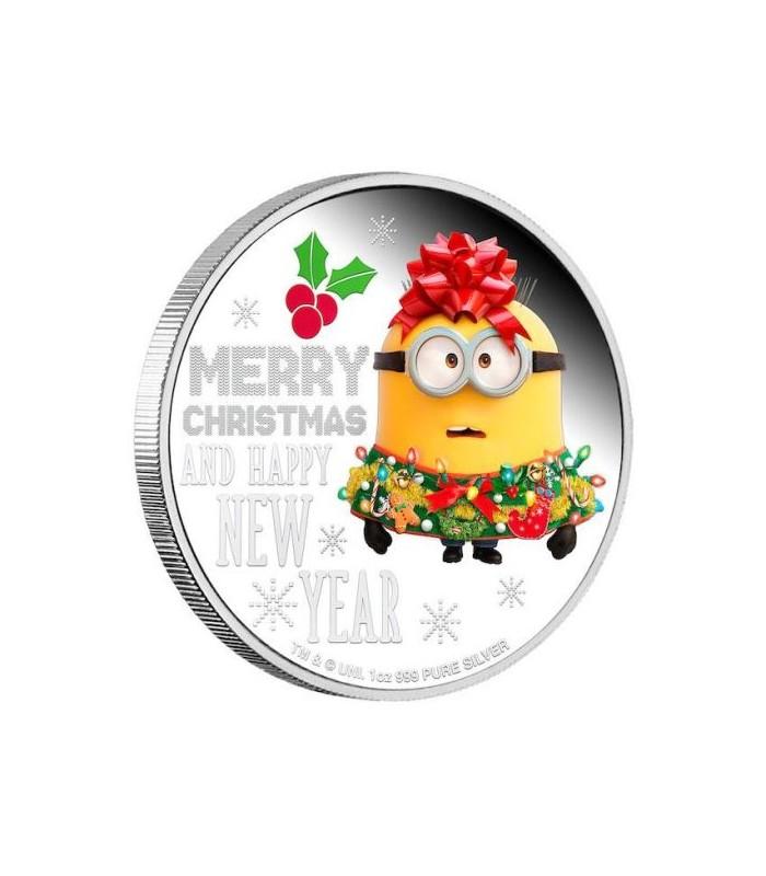 Minion Christmas.Minion Christmas 2019 1oz Silver Proof Coin