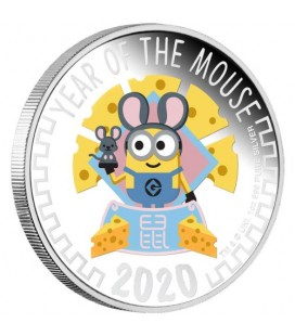 Minion Lunar 2020 Year of the Mouse 1oz Silver Proof Coin