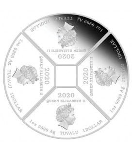 Year of the Mouse Quadrant 2020 1oz Silver Proof Four Coin Set