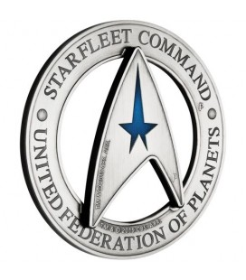 Starfleet Command Emblem 2019 3oz Silver Holey Dollar & Delta Coin