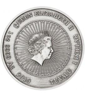 Laughing Buddha 2019 1oz Silver Antiqued Coin