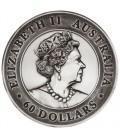 Kookaburra 2020 2 Kilo Silver Antiqued High Relief Coin