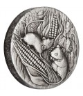 Lunar Series III 2020 Year of the Mouse 2oz Antiqued Silver Coin