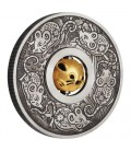 Year of the Mouse Rotating Charm 2020 1oz Silver Antiqued Coin