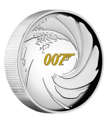 James Bond 007 1oz Silver Proof High Relief Coin
