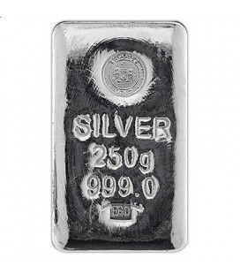 250 Gram Silver Bar Emirates