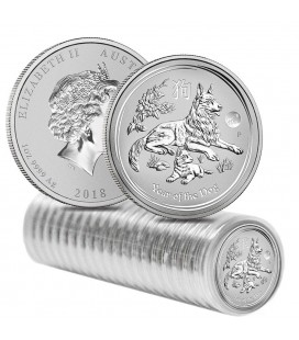 Dog 1oz Silver Bullion coin-2018