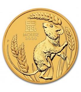 Australia 2 oz Gold Lunar Mouse BU-2020