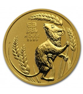 Australia 1/2 oz Gold Lunar Mouse BU-2020