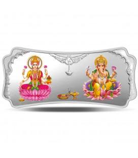 Lakshmi Ganesha (999.9) 100 gm Silver Bar