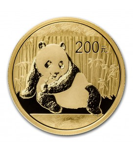 China 1/2 oz Gold Panda BU (Sealed)-2015