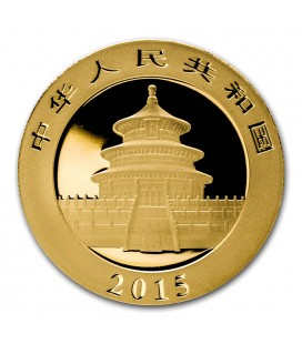 China 1/2 oz Gold Panda BU (Sealed)-2015