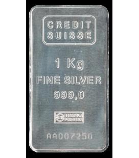 1 Kilogram Credit Suisse Silver Bar