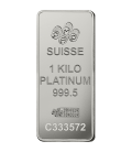 1 kg Platinum Bar - PAMP Suisse
