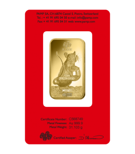 Lunar Rat Gold Rectangular Ingot - 1oz