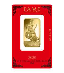 Lunar Rat Gold Rectangular Ingot - 100g
