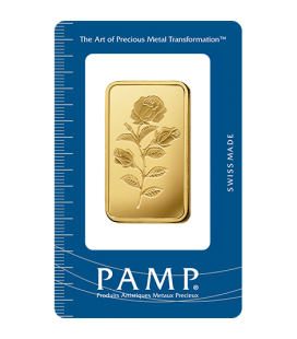 Rosa Gold Rectangular Ingot - 1 oz
