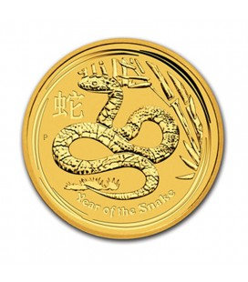 1 Kilo 32.15 oz Gold Lunar Year of the Snake-2013