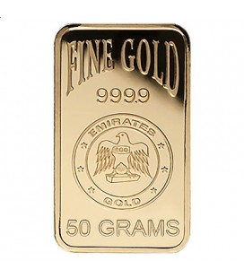 Emirates 50 Gram Gold Bar