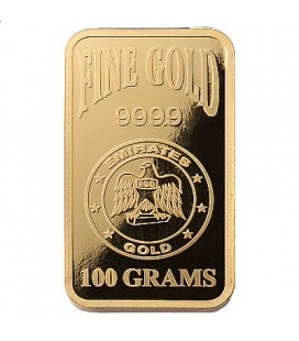 Emirates 100 Gram Gold Bar