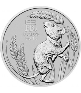 Australia 1 oz Platinum Lunar Mouse BU -2020