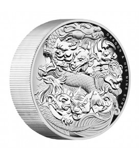 Dragon and His Nine Sons 5oz High Relief Silver Proof Coin