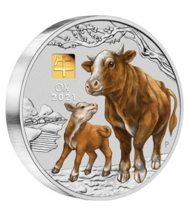 Lunar Series III 2021 Year of the Ox 1 Kilo Silver Coin with Gold