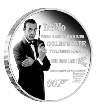 James Bond Legacy Series – 1st Issue 2021 1oz Silver Proof Coloured Coin
