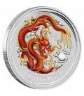 Dragon 2oz Silver Coloured Australian Coin Perth ANDA Coin Show-2012