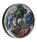 Chinese Ancient Mythical Creatures 2021 5oz Silver Antiqued Coin