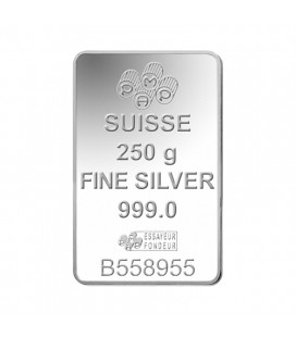 Fortuna Silver Rectangular Ingot -250 g