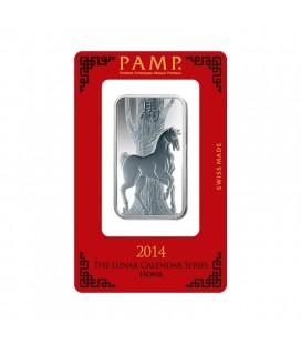 Lunar Horse Silver rectangular Ingot - 1oz