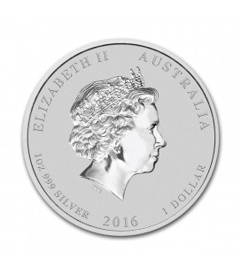 1 oz silver coin - 2016 Australian Lunar Series II - Perth Mint - Monkey