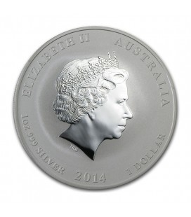 2014 1 oz Silver Australian Year of the Horse Coin