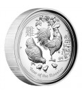 Lunar Series II 2017 Year of the Rooster 1oz Silver Proof High Relief Coin