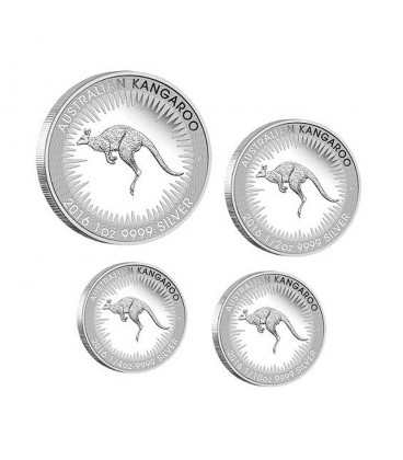 Kangaroo 2016 Silver Proof Four-Coin Set