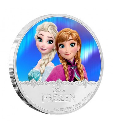 Disney Frozen - Elsa & Anna 2016 1oz Silver Proof Coin