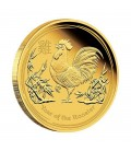 Lunar Series II 2017 Year of the Rooster Gold Proof Coins