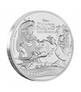 Disney Silver Coin - Alice In Wonderland 65th Anniversary