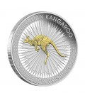 Kangaroo 2016 1oz Silver Gilded Edition