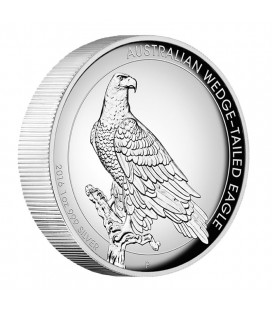 WEDGE-TAILED EAGLE 2016 1OZ SILVER PROOF HIGH RELIEF COIN