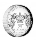 Her Majesty Queen Elizabeth II 90th Birthday 2016 1oz Silver Proof High Relief Coin