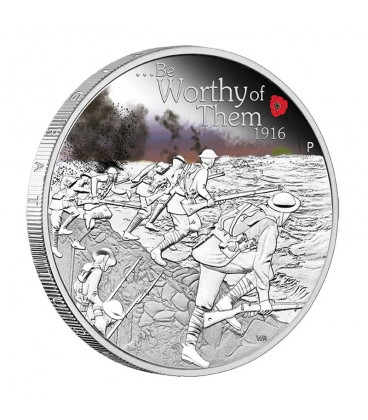 ANZAC Spirit 100th Anniversary Coin Series – Be Worthy of Them 2016 1oz Silver Proof Coin