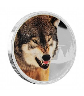 Kings Of The Continents - Grey Wolf Silver Coin