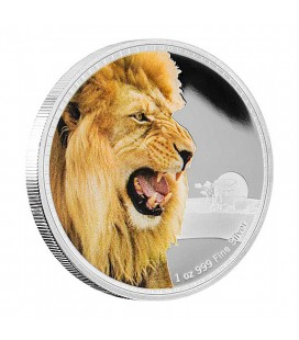 Kings Of The Continents - African Lion Silver Coin