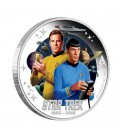 STAR TREK: THE ORIGINAL SERIES CAPTAIN JAMES T. KIRK AND SPOCK 1OZ SILVER PROOF COIN