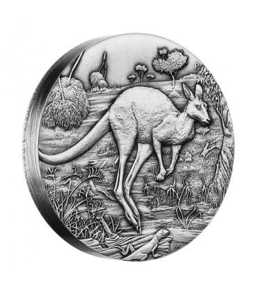 Kangaroo 2016 2oz Silver High Relief Antiqued Coin