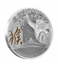Lunar Gilded Coin - Year Of The Monkey 2016