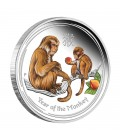 Lunar Series II 2016 Year of the Monkey Silver Proof Coloured Editions